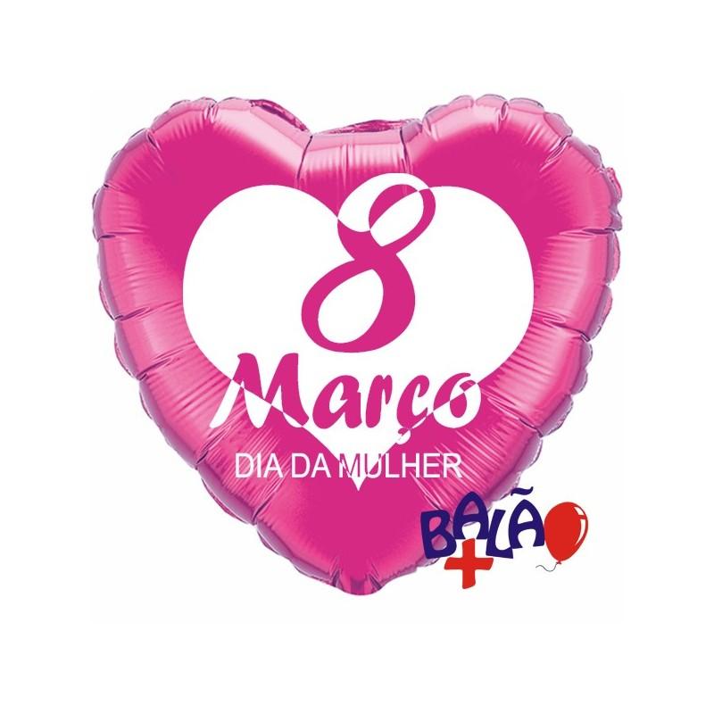 Balão 8 de Março Dia da Mulher