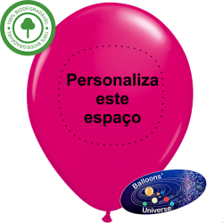 Fuchsia Balloon Custom Print 1 color on 1 side
