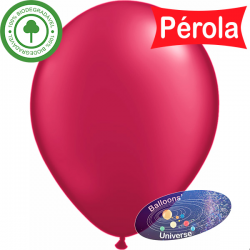 Balão 30cm Bordô Pérola