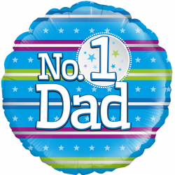 18'' Number 1 Dad Round Foil Balloon