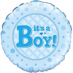 18'' It's a Boy Round Foil Balloon