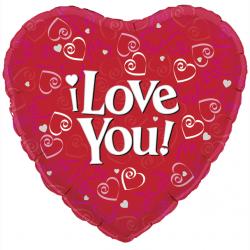 18'' I Love You Heart Foil Balloon