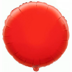 45cm Round Red Foil Balloon
