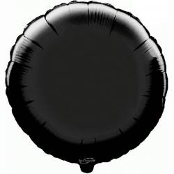 45cm Round Black Foil Balloon