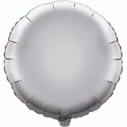 45cm Round Silver Foil Balloon