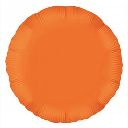45cm Round Orange Foil Balloon