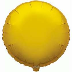 45cm Round Gold Foil Balloon
