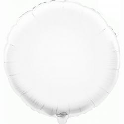 45cm Round White Foil Balloon