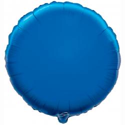 45cm Round Blue Foil Balloon