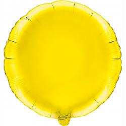 45cm Round Yellow Foil Balloon