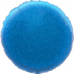 45cm Round Holographic Blue Foil Balloon