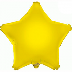 48cm Star Yellow Foil Balloon