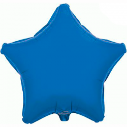 48cm Star Blue Foil Balloon