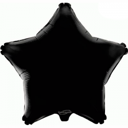 48cm Star Black Foil Balloon
