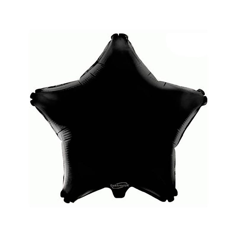 48cm Star Black Foil Balloon