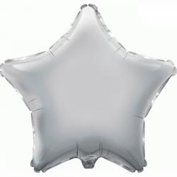 Balão Estrela de 48cm Prateada
