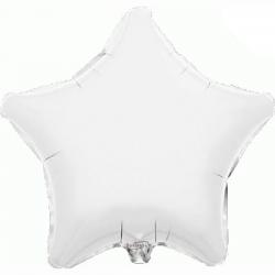 48cm Star White Foil Balloon