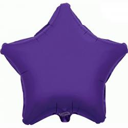 48cm Star Purple Foil Balloon