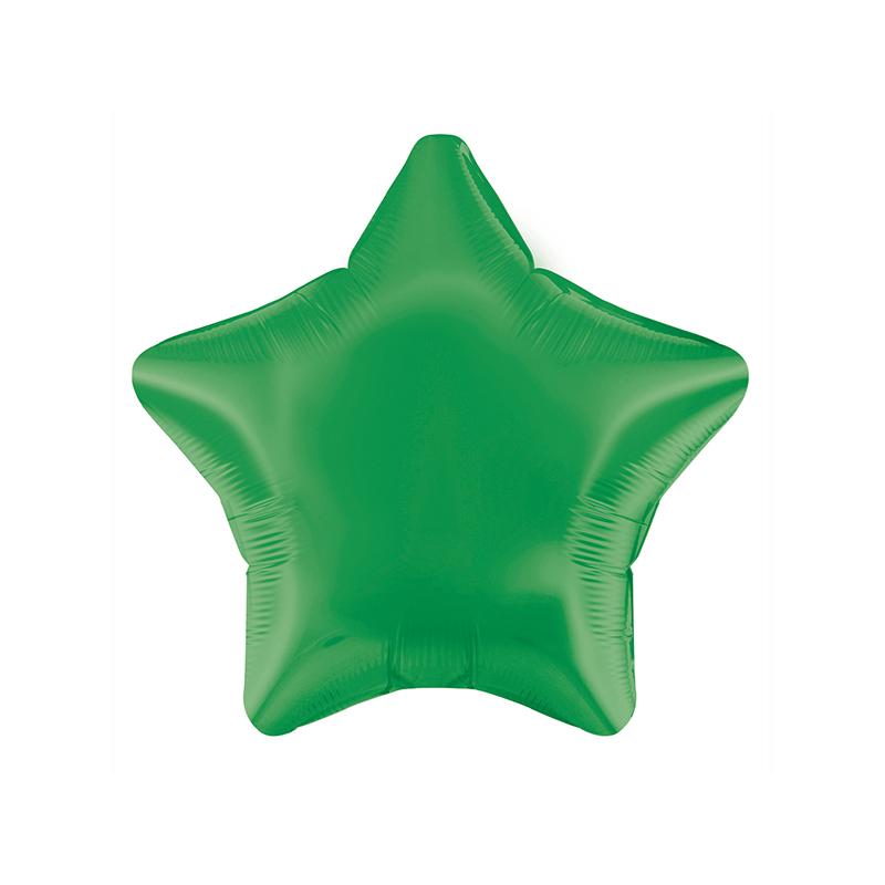 48cm Star Green Foil Balloon