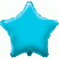 48cm Star Light Blue Foil Balloon