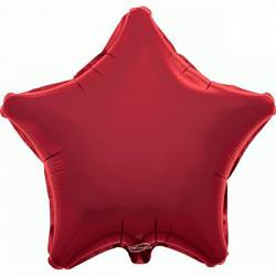 48cm Star Burgundy Foil Balloon