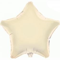 48cm Star Ivory Foil Balloon