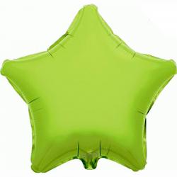 48cm Star Lime Green Foil Balloon
