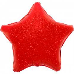 48cm Star Holographic Red Foil Balloon