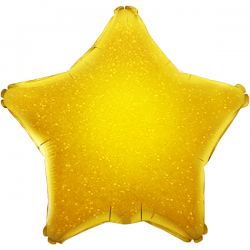 48cm Star Holographic Gold Foil Balloon