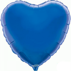 45cm Heart Blue Foil Balloon