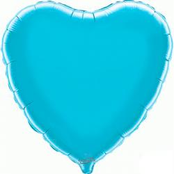 45cm Heart Light Blue Foil Balloon