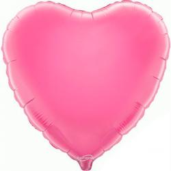 45cm Heart Pink Foil Balloon