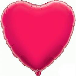 45cm Heart Fuchsia Foil Balloon