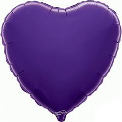 45cm Heart Purple Foil Balloon