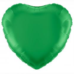 45cm Heart Green Foil Balloon