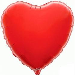 Balão Coração de 45cm Vermelho