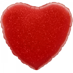 45cm Heart Red Holographic Foil Balloon