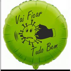 45cm Vai Ficar Tudo Bem Lime Green Balloon