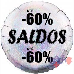 45cm Saldos - 60% Holographic Silver Balloon