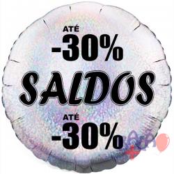 45cm Saldos -30% Holographic Silver Balloon