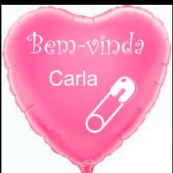 Balão Foil Coração Rosa Personalizado em 2 Lados