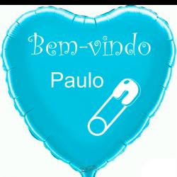 Custom heart light blue foil balloon 2 sides printing
