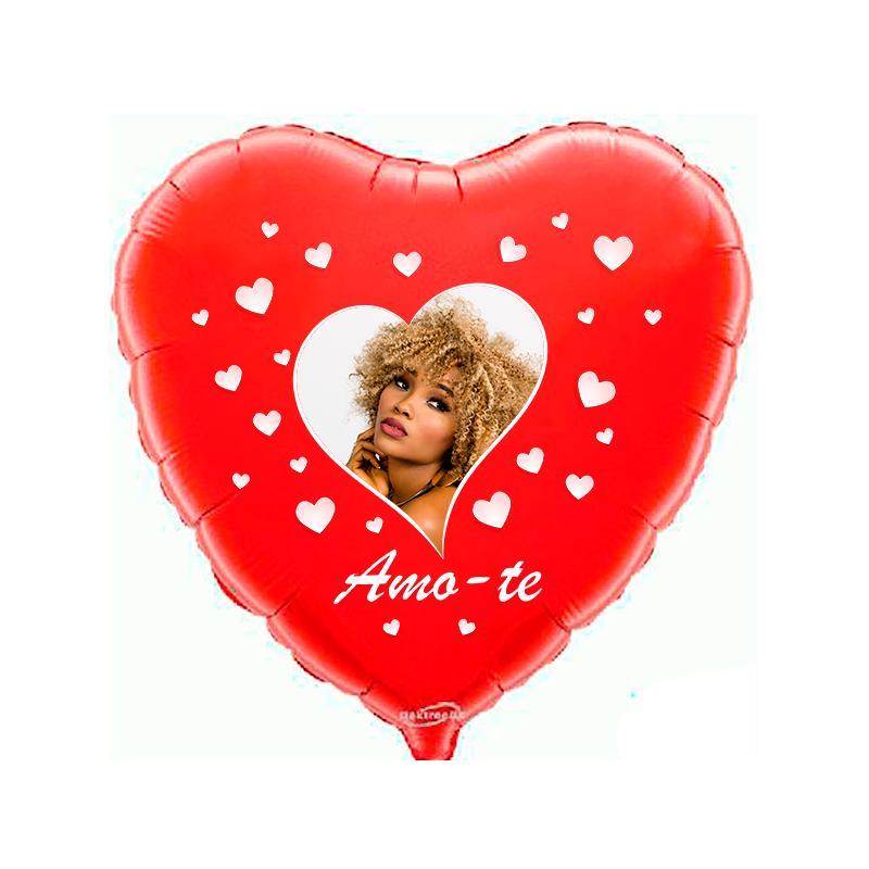 Custom heart red foil balloon 2 sides printing