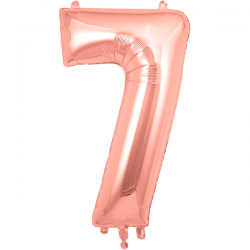 86cm Rose Gold Number 7 Balloon