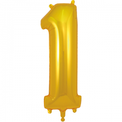 86cm Gold Number 1 Balloon