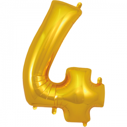 86cm Gold Number 4 Balloon