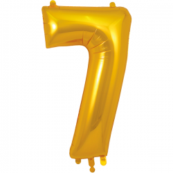 86cm Gold Number 7 Balloon