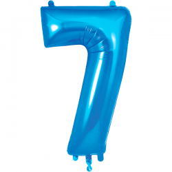 86cm Blue Number 7 Balloon