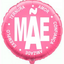 45cm Mãe Pink Balloon