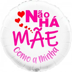 45cm Não Há Mãe White Balloon